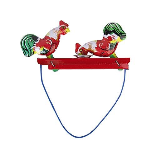 MagiDeal Jouet à Ressort Poussins Picore Cadeau Collection Jouet Mécanique Ancien Métal