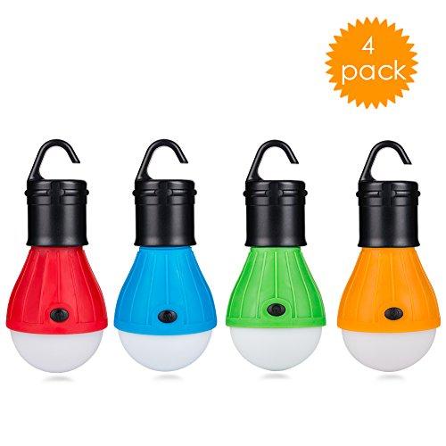 Eletorot LED Campinglampe Zeltlampe Glühbirne Set-Notlicht COB150 Lumen für Camping, Abenteuer,Angeln, Garage, Notfall, Stromausfall wasserdicht, 4 Stücke