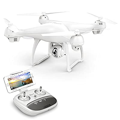 GPS Drone, Potensic T35 GPS 1080P HD WiFi Camcorder FPV RC Drone 2.4Ghz Remote Control Quadcopter with Wide-Angle Function-Adjustable Camera Follow Me Suspension Altitude Hold Headless Mode Function and Long Control Range by Potensic