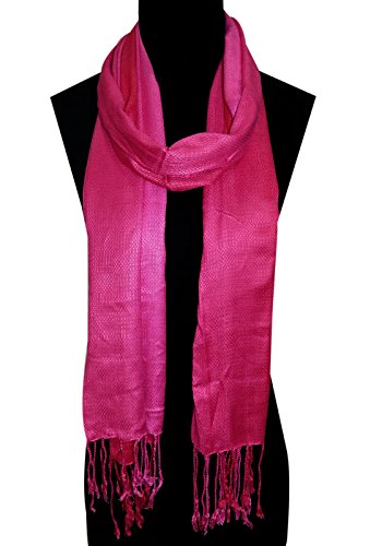 URBAN TRENDZ - Viscose dobby Shaded dyed Scarf - Stole - Dupatta-Shawl...