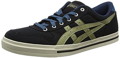 Asics Herren Aaron Sneakers, Schwarz (Black / Light Olive), 44 EU