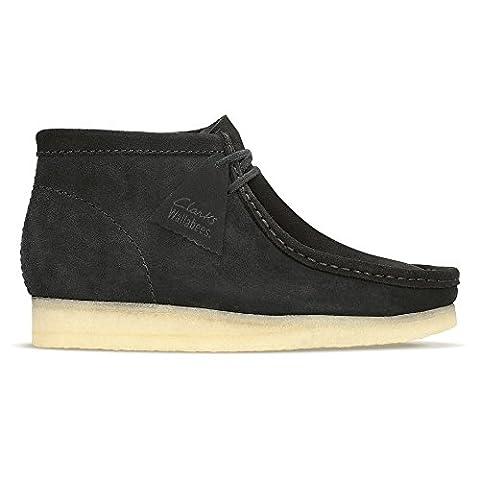 Clarks Originals Mens Wallabee Boot - Black Natural Mens Shoes 10.5 UK