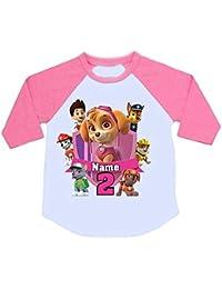 e7d162657 Sprinklecart Personalized Name Printed Raglan Full Sleeve Tee for Kids |  Paw Patrol Image Printed Birthday Tshirt On…