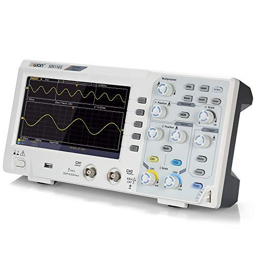 "Festnight Owon SDS1102 Oszilloskop Oszillometer Digitales Speicheroszilloskop 2CH 100MHz 1GS / s 7""LCDDisplay"