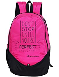POLE STAR 30 Ltr Pink And Black Polyester Laptop Backpack