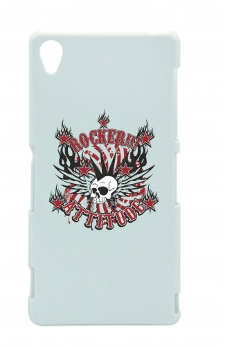 Smartphone Case Rocker Attitude Music Rock n Roll Rocker Bike Auto da Viaggio Travel palme anni  anni per Apple Iphone 4/4S, 5/5S, 5 C, 6/6S, 7 & Samsung Galaxy S4, S5, S6, S6 Edge, S7