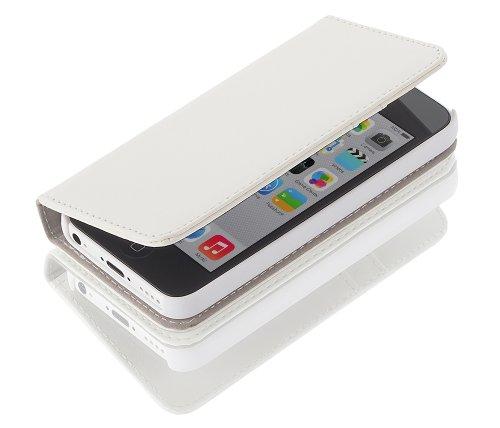 Gear4 G4J1009G Low Cost LederBook Case für Apple iPhone 5 Weiß