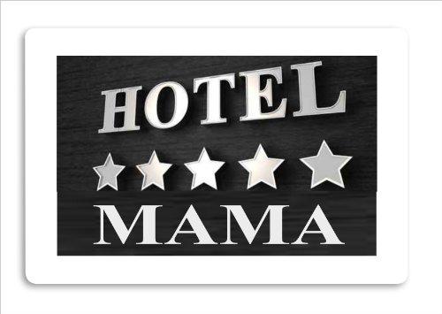 """Fussmatte bedruckt Motiv \""""Hotel Mama\"""""""