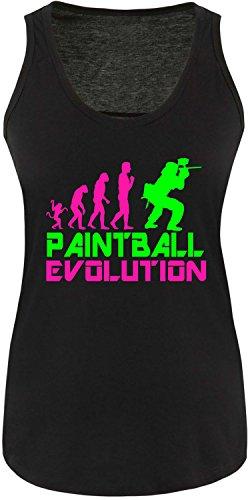 EZYshirt® Paintball Evolution Damen Tanktop Schwarz/Pink/Neongr