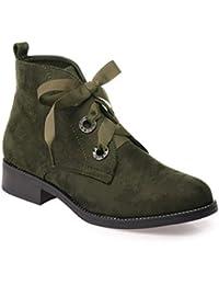 Amazon.fr   Vert - Derbies   Chaussures femme   Chaussures et Sacs 92efa9caf59c