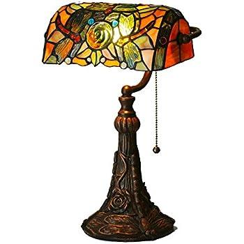 12 Tiffany Lampes De Hobaca® Ambre Verre Antique Pouces N0OkX8wnP