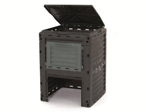 Siena Garden 880060 Thermokomposter 300 l Kunststoff, schwarz