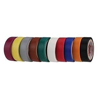 Coroplast PVC-Isolierband, 10 Stück, 0,15 x 12 mm, farbig sortiert, 41099