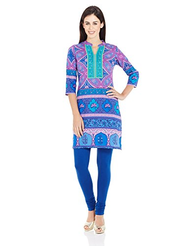 Rain And Rainbow Women's Straight Kurta (3707-AR-14/02-5_PURPLE_X-Large)
