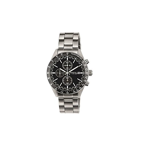TRIBE Uhren BY BREIL FAST Herren Edelstahl Chronograph Schwarz - EW0322