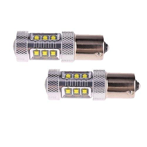 Preisvergleich Produktbild High Performance 2x 1156 führte Autolampen 80w canbus DRL weiß Bremse DRL Stop-Rücklicht-Endstück-Birnen-Scheinwerfer-Lampe für Auto-LED (weiß 1 180 °)