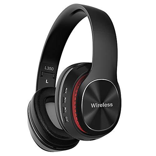 AndThere Cuffie Over Ear Senza Fili Cablata Bluetooth 5.0 Cuffie On Ear Wireless Stereo Cuffie Pieghevoli Auricolari Riduzione del...