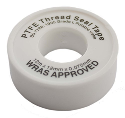 Ptfe White Thread Seal Tape 12Mx12Mm Teflon Plumber Plumbing Joint Water Oil by All Trade Direct ()