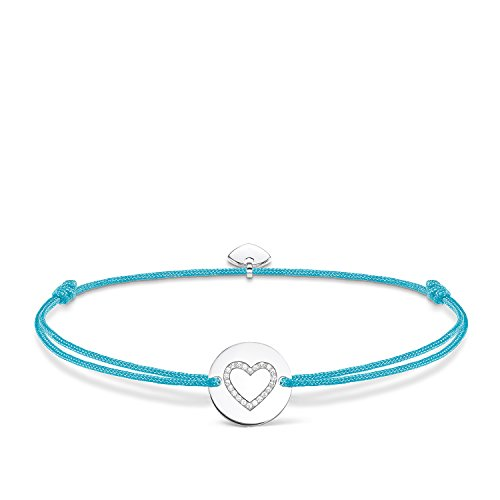 THOMAS SABO Damen Armband Little Secret Herz Herz Little Secret 925er Sterlingsilber, Nylon LS069-401-31