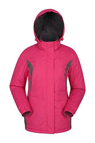 Mountain Warehouse Moon Damen-Skijacke - Schneedicht, Mikrofaser-Isolierung, Winddichte Winterjacke, warm, verstellbare Kapuze - Ski-Bekleidung für den Snowboard-Urlaub Rosa DE 36 (EU 38)