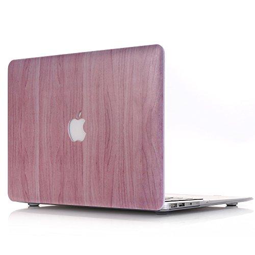 Macbook Pro 13 Retina Hülle, L2W Macbook Pro 13.3 Retina Zoll Hard Shell Holz Textur Muster Gummi Beschichtet Plastik Hartschale Hülle Abdeckung für neueste MacBook Pro Retina 13 Zoll mit - Pro-tastatur-abdeckung Mac Holz