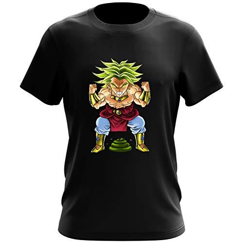 Okiwoki T-Shirt Noir Dragon Ball Z - DBZ parodique Broly Le Guerrier millénaire : Super Caca Vol.3 - Le Caca Millénaire (Parodie Dragon Ball Z - DBZ)