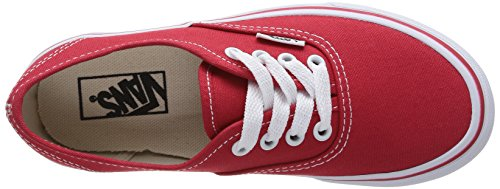 Vans Authentic Sneaker, Unisex Bambino Rot (Red/True White 6RT)