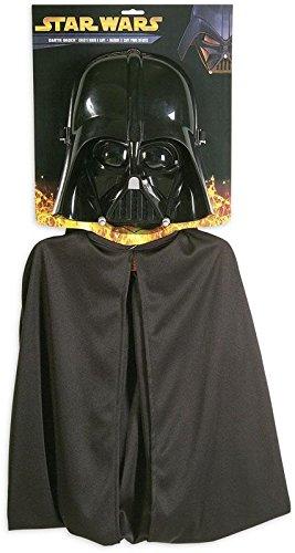 Star Wars Darth Vader Set 2-teilig für Kids/Maske & Umhang in Einheitsgröße (Sith Krieger Kostüm)