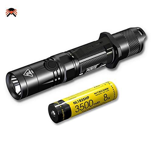 Nitecore P12 GTS Linterna LED 1800 Lumens 8 Modos de Iluminación Resistente al Agua IPX8