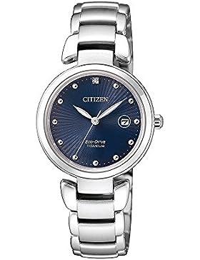 Citizen Uhr nur Zeit Damen Super Titanium EW2500–88L