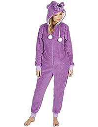 0cc0affc2ec2 Ladies Womens Snug Onesie Adult All in One Fleece Zip Jumpsuit Pyjamas  Nightwear
