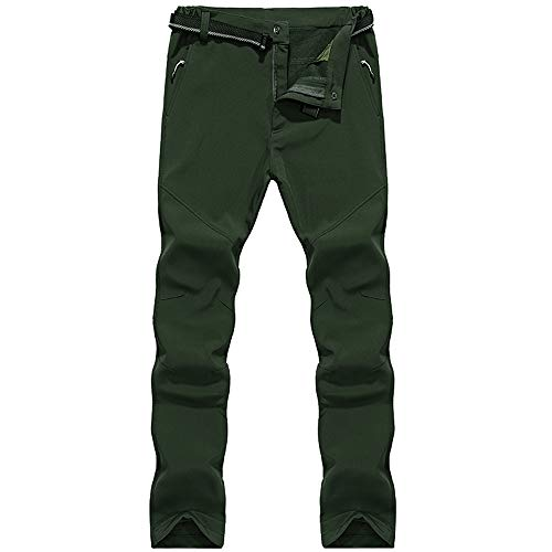 41w2U%2BZda8L. SS500  - LY4U Men's Outdoor Winter Hiking Camping Hunting Climbing Trousers Water-resistant Soft Shell Fleece Lined Thicken Warm Wear-resisting Pants