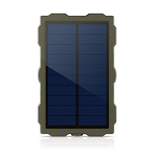LHYP Solar-Ladegerät Wildlife Camera, Trail-Kamera 1500Mah Solar-Akku-Ladegerät, Solar Panel Externe Power-Jagd-Kamera IP56 Spray Wasser Geschütztes Design -