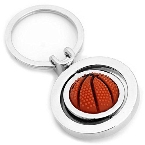 Skyllc® 3 PCS Stilvolles Einfaches Starkes Basketball Gestalten Schlüsselanhänger Reizvoller Metallschlüsselring Kettenring Halter