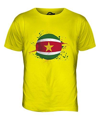 CandyMix Suriname Fußball Herren T Shirt Zitronengelb