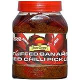 Sun Grow Organic Homemade Stuffed Banarasi Red Chilli Pickle Achaar ( Taste of Banaras )– Pack of 1Kg Taste of King Trust of Quality