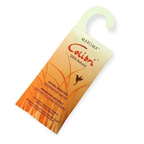 Hangerworld - Sachet Anti Mites à pendre. Ingrédients naturels - Bois de cèdre - Sachet : 22cm x 8cm.