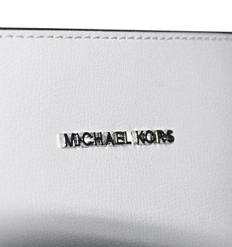 MICHAEL by Michael Kors Rivington Schwarz Large Tote Bianco ottico