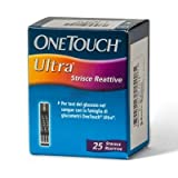 One Touch Ultra Strisce per Misurazione della Glicemia, 25 Pezzi