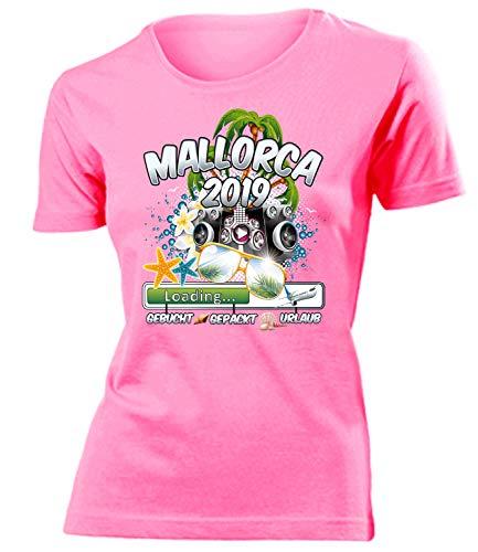 Mallorca 2019 Loading 5984 Spanien Party Sauf Bieren Damen Fun-T-Shirts Pink XL (2019 Ideen Party Outfit)