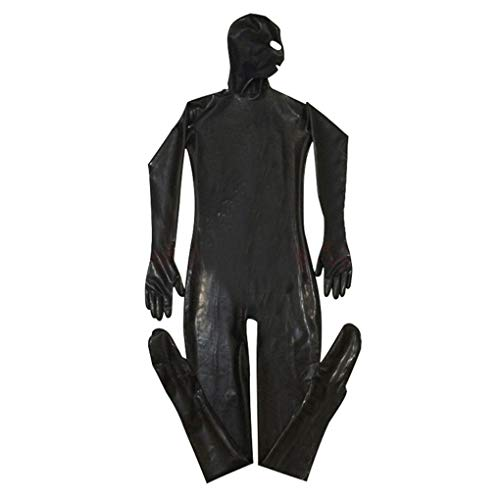Kostüm Exotische Männliche - Gankmachine Männer PU-Leder-Masken Haube Sexy Bodysuit Nachtclub Prisoner Kostüm männlich Erotik Fetisch Overall