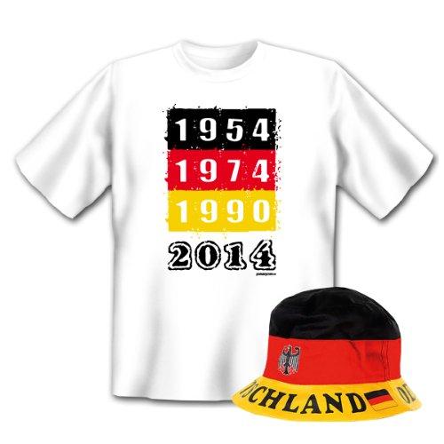 Geniales Outfit für Sport Freunde - 2014 T-Shirt + Mütze