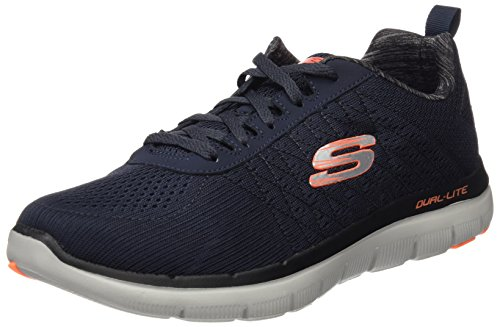 Skechers Herren Flex Advantage 2.0 - The Happs Outdoor Fitnessschuhe, Blau (Dark Navy), 43 EU
