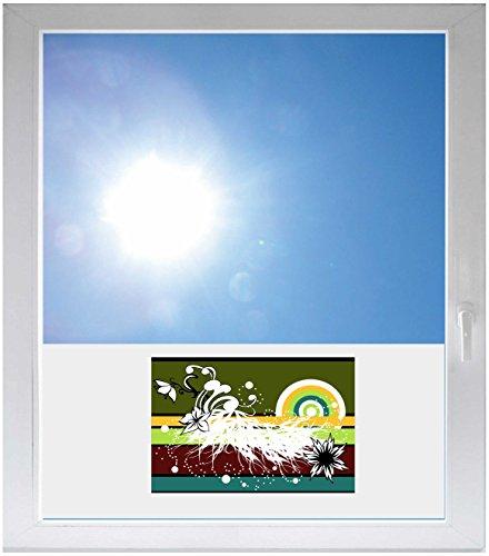 INDIGOS UG Folie - Sichtschutzfolie Sonnenschutz Glasdekorfolie / Glasdekor Fensterfolie mit Motiv satiniert blickdicht - GMF0569 - Buchstabe Mischung aus Bildern und Farben - 800 m Länge - 500 m Höhe