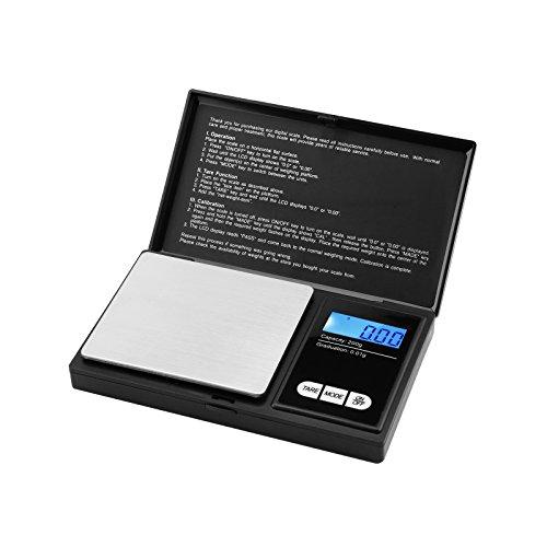 Swees 200 x 0.01g Digitale Feinwaage - 200g/0,01g Digitale Taschenwaage, Digitalwaage Goldwaage Münzwaage Waage mit LCD-Anzeige for Küche Kochen, Tabletten,Schmuck