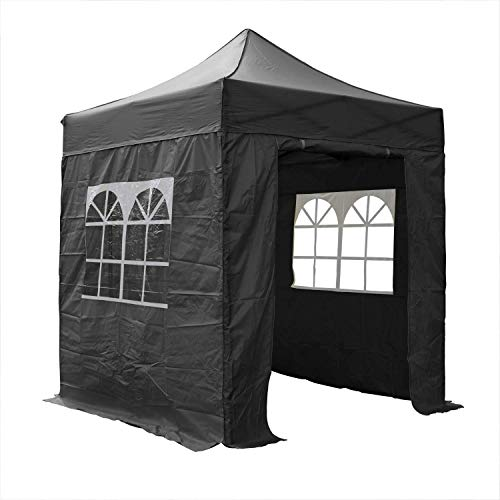 AIRWAVE Essential Pop-Up-Pavillon, 2 x 2 m, Schwarz