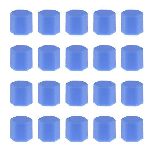 Packung Von 20 Reifen Auto-Rad Schrauben Bolzenabdeckung Hutmutter Lug 17mm Blau Schützen