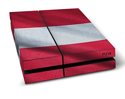 """Sony PlayStation 4 Designfolie """"Österreich Flagge"""" Skin Aufkleber für PlayStation 4 (PS4)"""