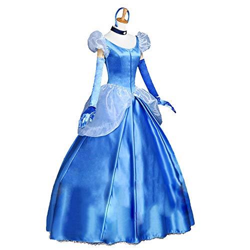 HYMZP Kostüm Damen, Adult Halloween Cinderella Cosplay Prinzessin Kleid, Karneval Party Sexy Frauen Tanzkostüm,M