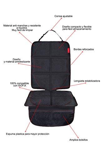 Antideslizante y Resistente 8safe Protector de Asiento de Piel PU PREMIUM Tama/ño ideal para Turismos//SUV ISOFIX Compatible Perfecto para Asientos de Piel